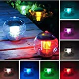 Coquimbo 7 Color Changing Floating Pond Pool Light Waterproof ABS Plastic Solar Hanging Ball Light for Garden
