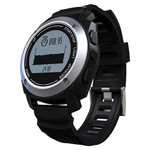 Telefon Abheben & Herzfrequenz-Test & Bluetooth Vintage Armbanduhr F¨¹r M?nner , Sport Armbanduhr Schwarz Uhr Digitale Uhr Ansehen