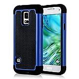 kwmobile Coque Samsung Galaxy S5 Mini G800 - Coque pour Samsung Galaxy S5 Mini G800 - Housse de Protection Hybride Bleu-Noir