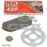 Kettensatz Derbi Senda 50 Enduro R DRD Racing 06-11, Kette RK 420 130, offen, 11/53