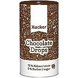 Xucker 750g zuckerfreie Schokoladen-Drops, Edelbitter mit 75% Kakao-Gehalt, Xylit aus Finnland, Chocolate Drops, 10099