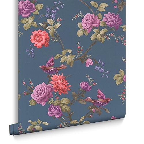 fresco-great-value-oriental-blue-floral-wallpaper-50-661