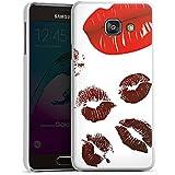 Samsung Galaxy A3 (2016) Housse Étui Protection Coque Empreinte de baiser au rouge à lèvres Amour Rouge