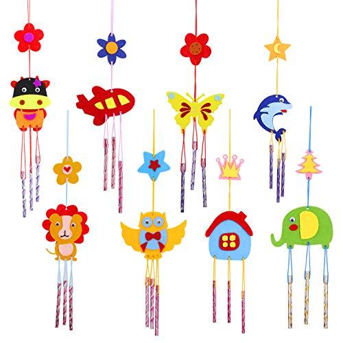 Hifot Kit Loisir Creatif Enfant DIY Carillons éoliens 8 pièces, Feutrine Décorations Kit d'artisanat Bricolage pour Décorations et Accessoires de fêtes