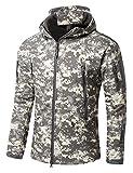 Impermeable Militar táctica Lucha contra la Chaqueta de Softshell Camping al Aire Libre Caminar Camuflaje Hoodie Coat
