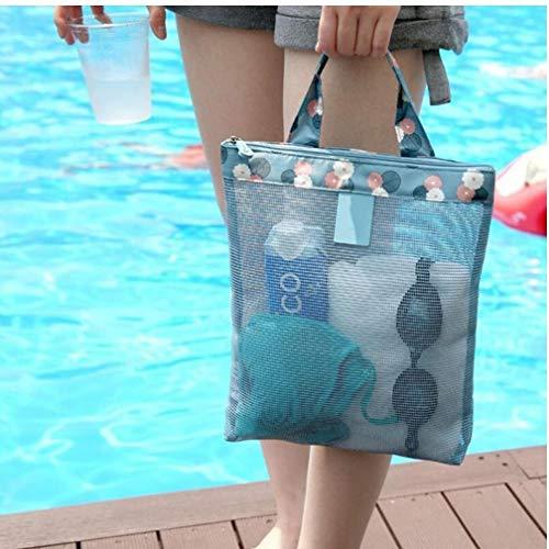 Gamloious Trendy Travel Badeanzug Schuh-Speicher-Beutel-Sommer-Strand-Beutel für Frauen Outdoor Sport Mesh Bag Organizer grün