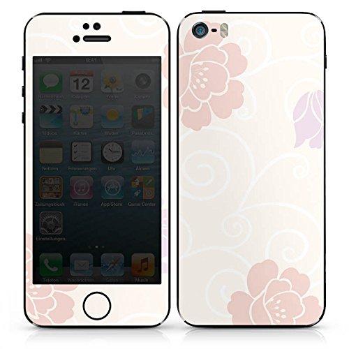 Apple iPhone 5 Case Skin Sticker aus Vinyl-Folie Aufkleber Flower Blumen Muster DesignSkins® glänzend