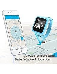 Misafes Unisex kinder Smart Uhr Sport Monitor GPS Tracker Digitaluhr Babyphone Baby Telefon Handy (SIM-Karte ist nicht enthalten)