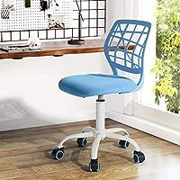 Fanilife Office Chair Adjustable Design Kids Computer Seat Desk Task Chair Swivel Armless Children Study Chair Green