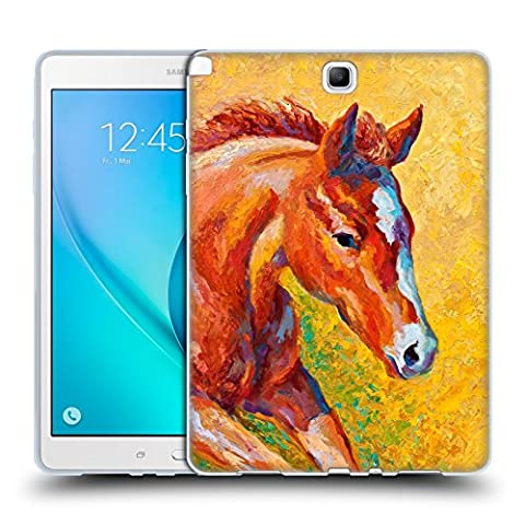 Official Marion Rose Sorrel Filly Horse Soft Gel Case for Samsung Galaxy Tab A 9.7