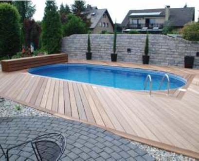 Pool Schwimmbecken Oval Ovalpool 6,23 x 3,60 x 1,50m IH 0,8mm