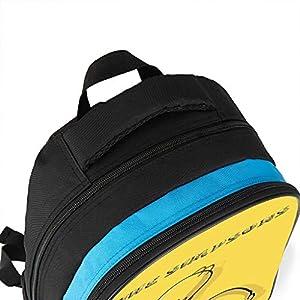 51vuoki8r9L. SS300  - Mochila unisex para niños The Simpsons, mochila para niños, divertida impresión amarilla para bebés y niños pequeños…