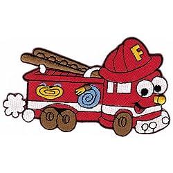 Applicazione da incollare a caldo con il ferro da stiro, motivo per bambini: camion dei pompieri