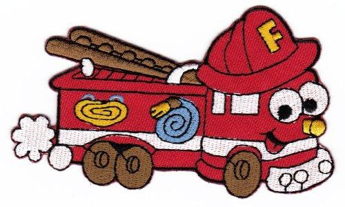 Aufnäher Bügelbild Aufbügler Iron on Patches Applikation Feuerwehr Auto Kinder Baby - Feuerwehr-applikationen