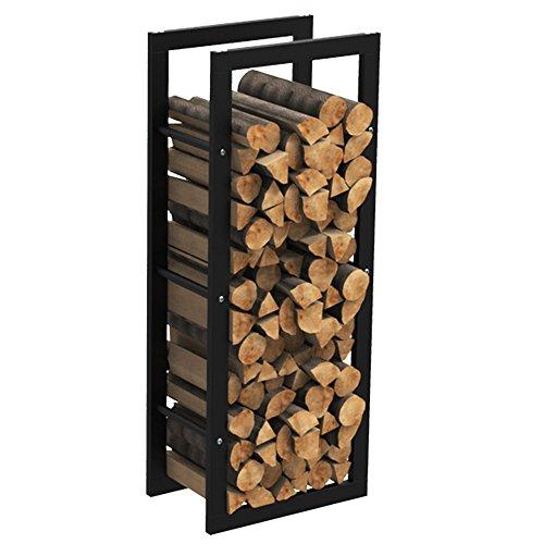 MCTECH® Metall Feuerholzregal Kaminholzregal Brennholzregal Kaminholzständer Kaminholzhalter Holzregal (100*40*25cm)