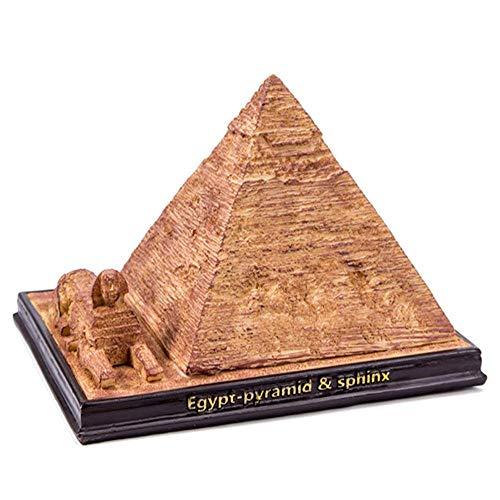 WY-BUILD Wohnkultur, Statue/Skulptur, äGyptische Pyramide Architekturmodell, Harz Dekoration, Geeignet FüR Wohnzimmer/BüRo/Geschenk (16,8 * 13,2 * 12 cm)