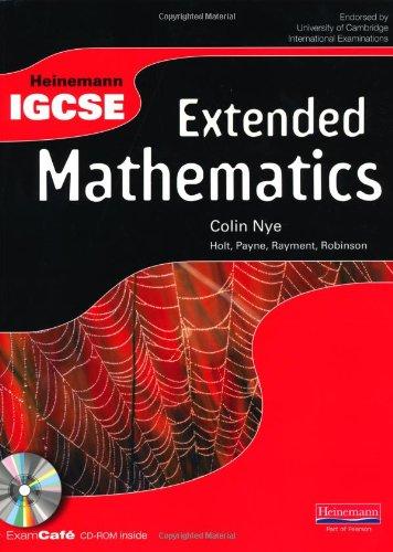 Heinemann IGCSE. Extended maths. Student's book. Con espansione online. Per le Scuole superiori. Con CD-ROM