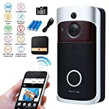 Nestling® Wireless Video Doorbell,WiFi Smart Doorbell with Chime 16G Card 720P HD 166°