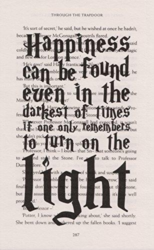 Kunstdruck Harry Potter dumbledor Zitat Kunstdruck auf Buch Seite von Philosoph Stone