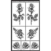 Armour productos Rub 'n' Etch de plástico funda Diseño de 12,7cm x 8-inchdetailed rosas