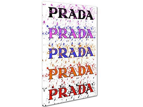 Kuader Prada Marfa Gossip Girl Wiederholtes Logo Prada Bild Druck Auf Leinwand Für Den Innenausbau Prv1, 50x70 cm