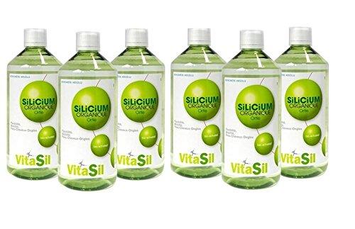 Vitasil–bioaktiviertes organisches Silizium zum Einnehmen–6x 500ml Flasche