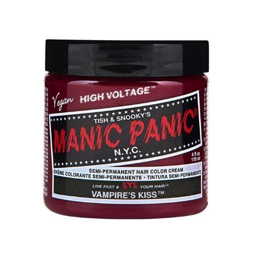 Tish & Snooky's Manic Panic NYC Manic Panic Hair Dye Classic Cream Color Vampire's Kiss Red Semi Permanent Formula by Tish & Snooky's Manic Panic NYC BEAUTY