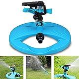 MJLXY Garten Sprinkler - Rasensprenger - Sprenger Garten, Automatische Rasen Wasser Sprinkler 360 Grad 3- Arm Rotierende Sprinkler System