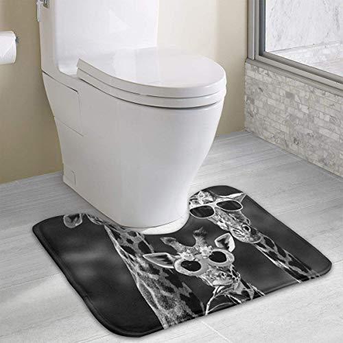 Hoklcvd Giraffe mit Sonnenbrille Rutschfeste Kontur Badematte für WC, saugfähiges Wasser, perfekt für Badezimmer. Kaufen Sie online Badematten zu den besten Preisen