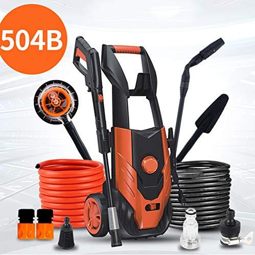 SSLL Hochdruckreiniger Inkl Waschbürste 1600W 135 Bar Schaumdüse Und Falteimer Etc.Transportabel, Mobil, Hobby, Camping, Biking, Boot,504B-Group1 -