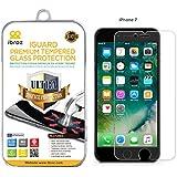 iBroz® - iPhone 7 - Protection Ecran en Verre Trempé iGUARD Premium Anti Chocs et Casse, Anti Empreintes Digitales et Gras, Bords Arrondis, Dureté Max 9H, Haute Définition 99%, pour iPhone 7 (Transparent)