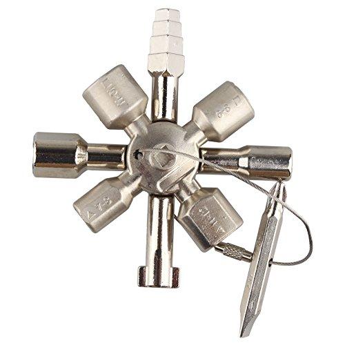 Universel 10en 1multifonctionnel double clé dynamométrique à cliquet Cross Clé pour train de voiture ascenseur Subway d'arrêt systèmes Control Cabinet Key