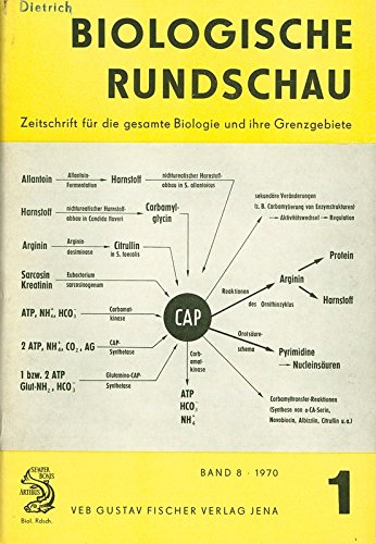 Carbamylphosphat und die Regulation der Arginin- und Pyrimidinsynthese, in: BIOLOGISCHE RUNDSCHAU, Nr. 1/1970.