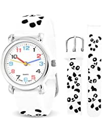 Bling Jewelry srd-ab2681 – Clock, White Rubber Strap