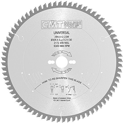 CMT Orange Tools 294,072,22 m scie circulaire 305 x 30 x 3,2 z 72 atb-5°