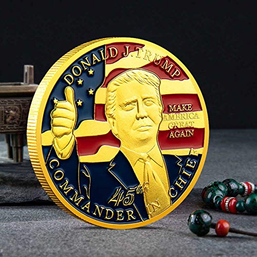 dongguanshuhui-Kollektion, President Trump Inaugural, vergoldet, Gedenkmünze 1