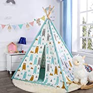Home Canvas Kids Teepee Tent for Kids Boys & Girls - Kids Play Tent - Kids Tent Indoor - Baby Teepee Tent