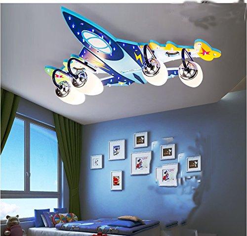 (Vier Flugzeuge Kinderzimmer Deckenlampe Schlafzimmerlampe kreative Persönlichkeit Wohnzimmerbeleuchtung LED-Beleuchtung Lampen Augen Cartoon Jungen und Mädchen)