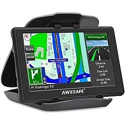 GPS para Coches con 5 Pulgadas Pantalla LCD, Navegador GPS para Coche y Camión con Actualizaciones de Mapas para Toda la Vida