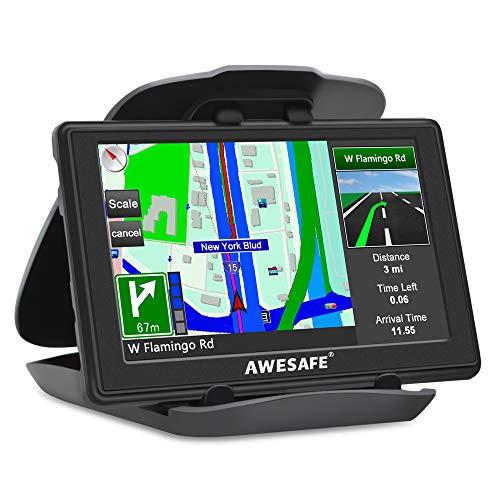 AWESAFE GPS para Coches con 5 Pulgadas Pantalla LCD, Navegador GPS para...