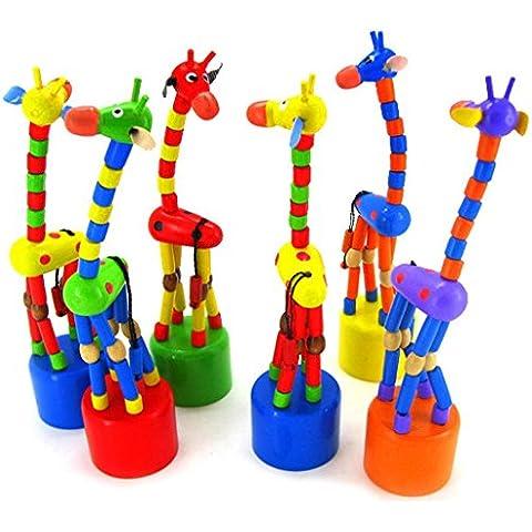 Ularma Lindo Juguete de la inteligencia de niños bailando soporte balancín juguete de madera jirafa