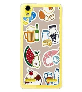 Food Graffiti Wallpaper 2D Hard Polycarbonate Designer Back Case Cover for Lenovo A6000 Plus :: Lenovo A6000+ :: Lenovo A6000