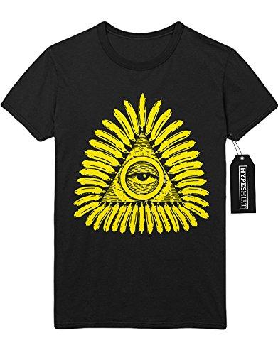 "T-Shirt ""FREEMASONRY TRIANGLE EYE"" H100015 Schwarz"