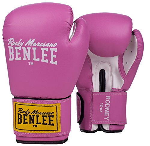 BENLEE Rocky Marciano Rodney Boxhandschuhe, Pink/White, 12 oz