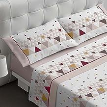 Burrito Blanco Juego de sábanas 461 Beige de cama de 150x190/200 cm