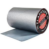 Cinta de butilo para reparación de techos y fugas, 200mm(W) Cinta de reparación de recubrimiento de aluminio Cinta de sellado Sellador para reparación de grietas canalones y orificios en el techo