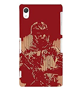 Soldier Painting 3D Hard Polycarbonate Designer Back Case Cover for Sony Xperia Z2 :: Sony Xperia Z2 L50W D6502 D6503