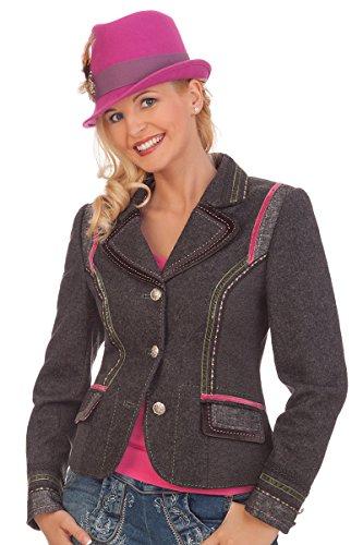 Damen Trachten Jacke - WERA - anthrazit, Größe 42