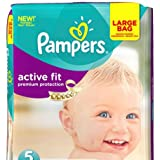 Pampers Active Fit Taille 5 Lot de 144 couches