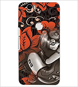 PrintDhaba Music Girl D-4115 Back Case Cover for HUAWEI NEXUS 6P (Multi-Coloured)